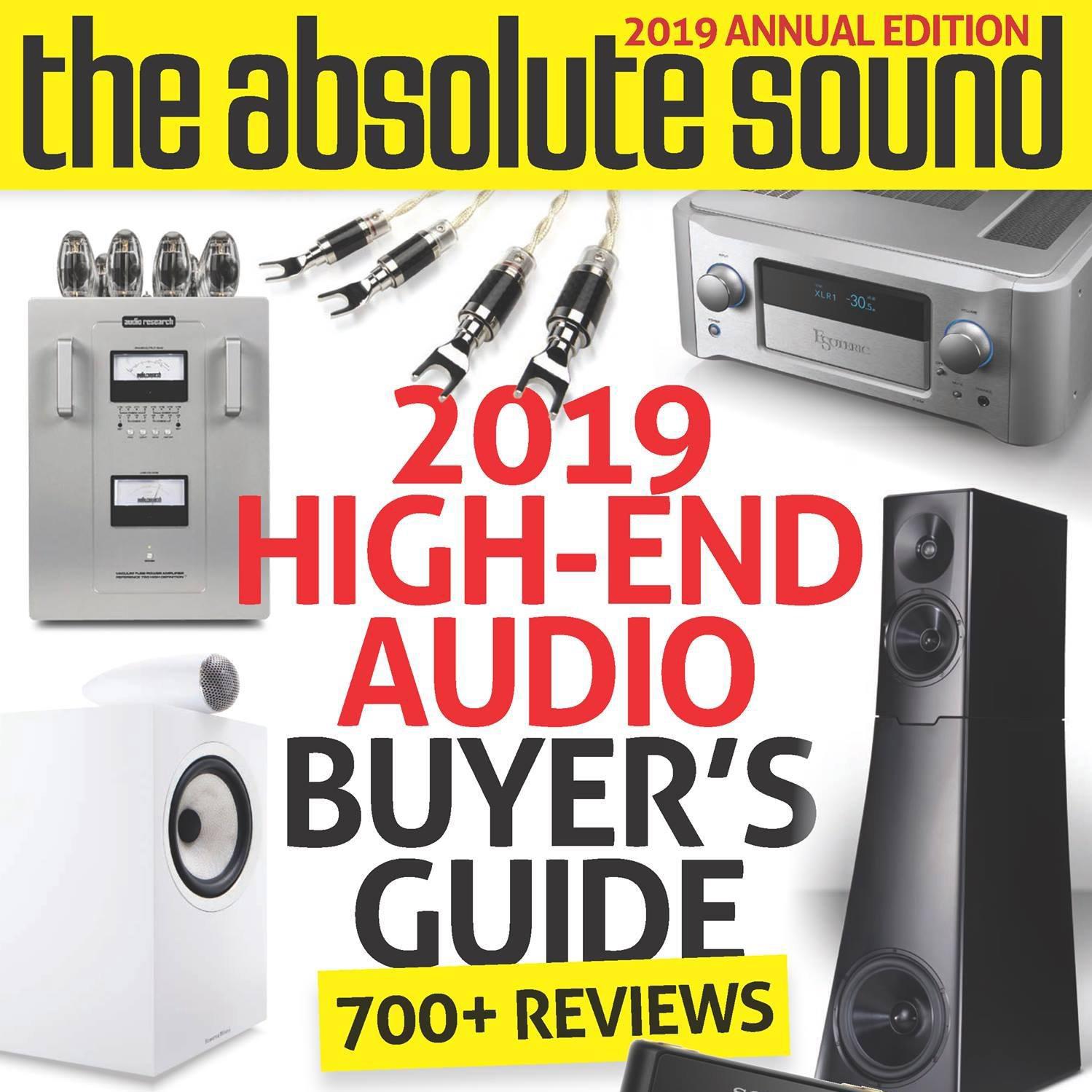 """Os Nossos produtos na lista da """"The Absolute Sound"""" 2019"""