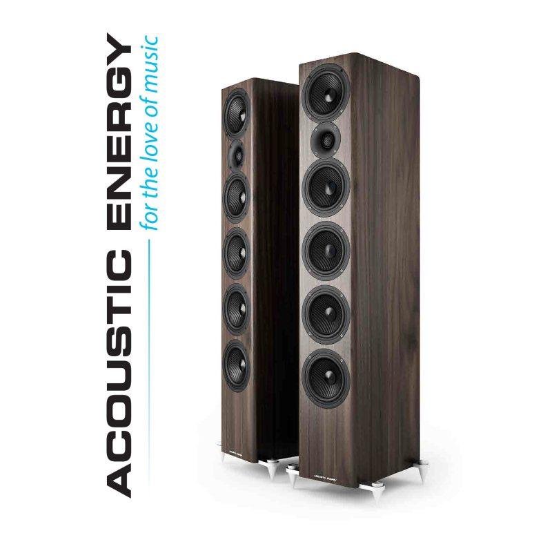 Novas colunas Acoustic Energy 520.
